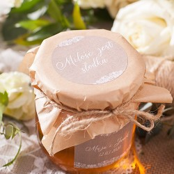 MIÓD personalizowany Miłość jest słodka 500 ml (+etykieta)