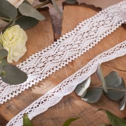 KORONKA dekoracyjna bawełniana 2szt 3m