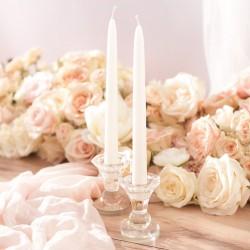 ŚWIECZNIK do świec długich i tealightów Kryształowy