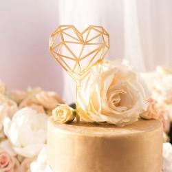 KONTUR dekoracyjny na tort KarmeLOVE ZŁOTY