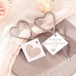ZIMNE OGNIE W KSZTAŁCIE ♥ 4szt Iskierki Miłości Vintage Lace
