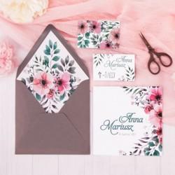 ZAPROSZENIE ślubne personalizowane Wiosenne Kwiaty