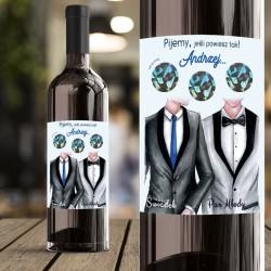ETYKIETA na Wino ze ZDRAPKĄ Pytanie do Świadka GARNITURY Personalizowana