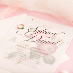 ZAPROSZENIE ślubne personalizowane Wild Roses