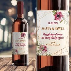 ETYKIETA na wino prezent dla Pary Młodej