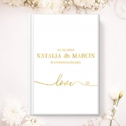 KSIĘGA GOŚCI wspomnienia ślubne Only Love A5
