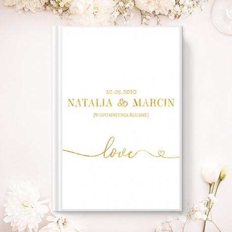 KSIĘGA GOŚCI wspomnienia ślubne Only Love