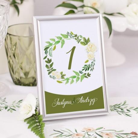 TABLICZKA na stolik z personalizacją Zielony Wianek