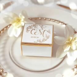 NAKLEJKA złocona transparentna z personalizacją