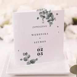 ZAPROSZENIE ślubne personalizowane Świeży Eukaliptus
