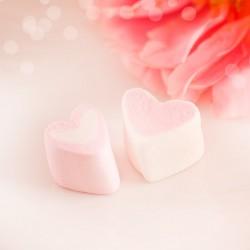 PIANKI Marshmallow Malinowe Serca do słodkiego bufetu MEGA PAKA 1kg