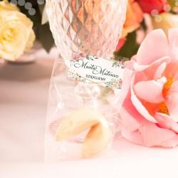 CIASTECZKO dla gości z wróżbą Geometric Rose (+etykieta)