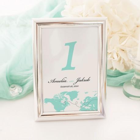 TABLICZKA na stolik z personalizacją Podróż Poślubna