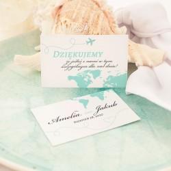 BILECIK podziękowanie personalizowany Podróż Poślubna
