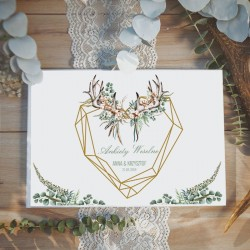 KSIĘGA GOŚCI Ankiety Weselne Boho Wedding Z IMIONAMI aż 100 stron!