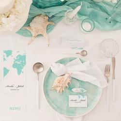 TABLICZKA na stolik z personalizacją Podróż Poślubna (+srebrna ramka)