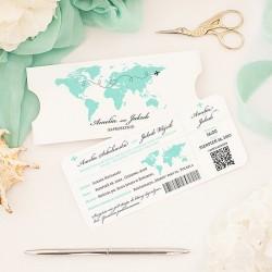 ZAPROSZENIE ślubne personalizowane Podróż Poślubna