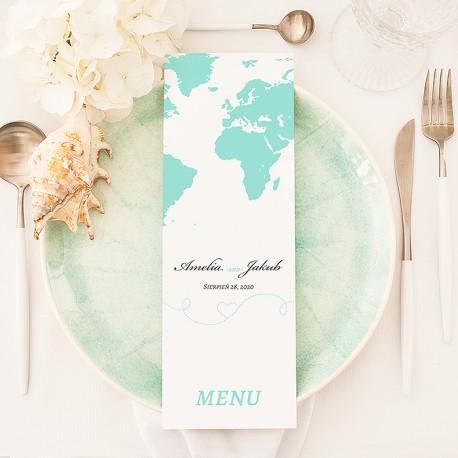 MENU weselne Kolekcja Podróż Poślubna