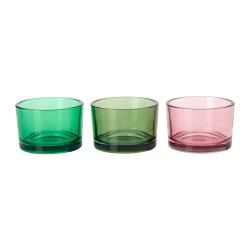 ŚWIECZNIKI na tealighty szklane 3 KOLORY