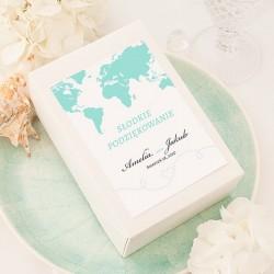 PUDEŁKA na ciasto z IMIONAMI Podróż Poślubna 10szt