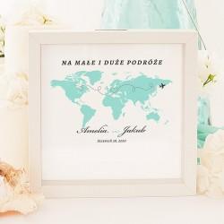 SKARBONKA 3D dla Młodej Pary Podróż Poślubna