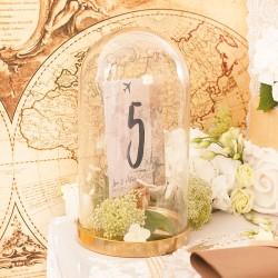 TABLICZKA na stolik z personalizacją - KLOSZ szklany Miesiąc Miodowy