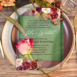 zaproszenia ślubne akrylowe