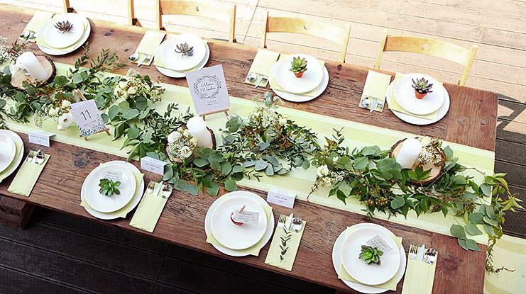 przykłady dekoracji weselnych naturalny styl
