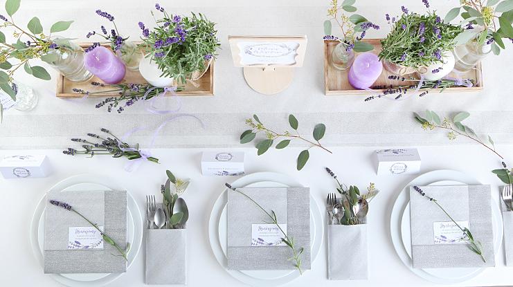 lawendowe dekoracje ślubne