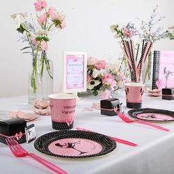 różowe dodatki na panieński