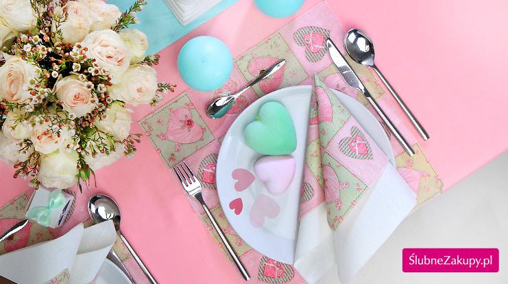 dekoracje stołu weselnego przykłady
