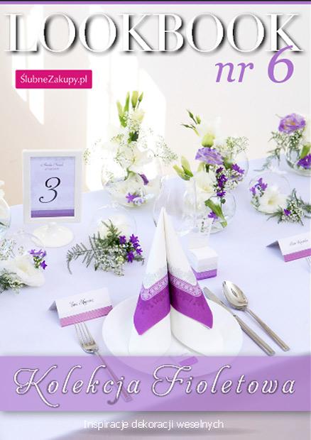 inspiracje pomysły wesele fioletowe