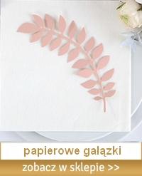 gałązki papierowe do dekoracji