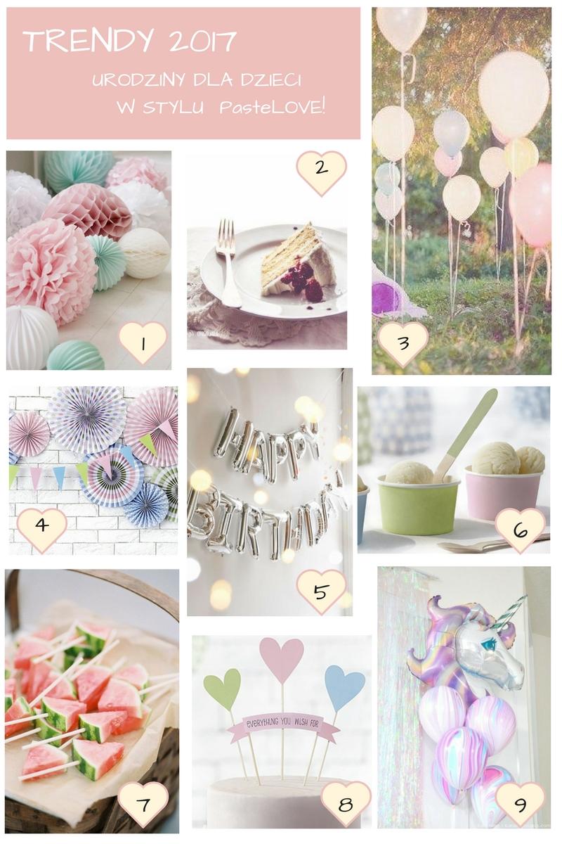 Trendy Pastelove Urodzinki 1001dekoracjipl