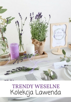 dekoracje weselne lawenda