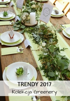 trendy weselne greenery