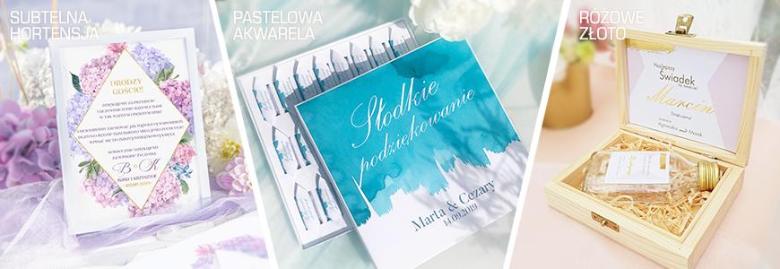 Modne dekoracje i dodatki na wesele. Najnowsze kolekcje ślubne w modnym stylu.