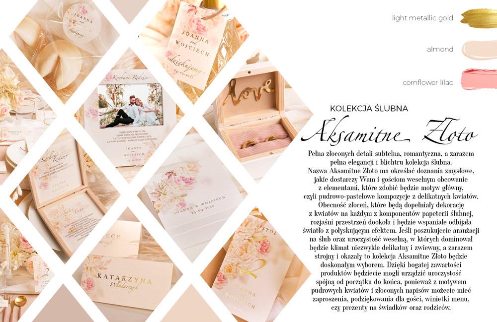 Dekoracje z pięknie połyskującymi elementami i modnym wzorem pastelowych kwiatów.