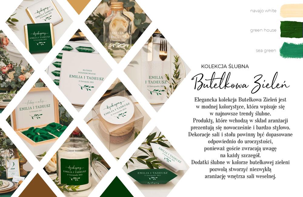Nowoczesna kolekcja w modnym odcieniu butelkowej zieleni. Idealnie sprawdzi się, aby stworzyć efektowną aranżację wnętrza.