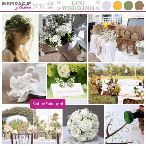 Inspiracje na ślub w stylu eco. Wianek dla panny młodej i kraftowe dodatki ślubne.