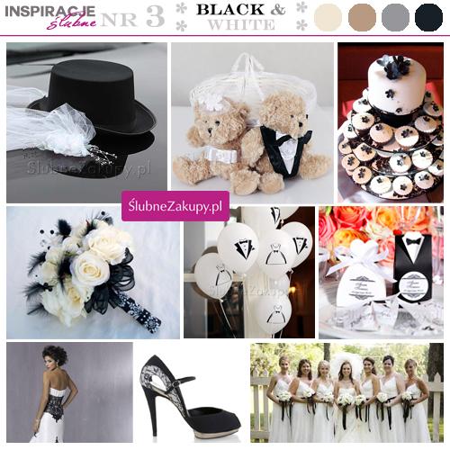 Klasyczne inspiracje na ślub w stylu czarno-białym. Motyw cylindra i welonu.