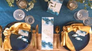 Kolekcja Złoto-Granatowa - eleganckie dekoracje na ślub 2020